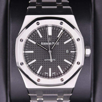 Audemars Piguet Royal Oak 41mm 15400ST Black Dial Pre-Owned-First Class Timepieces