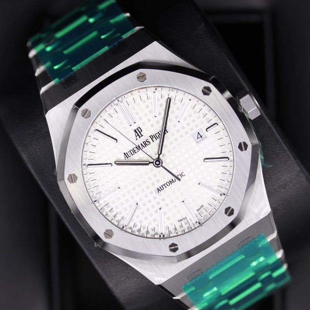 Audemars Piguet Royal Oak 41mm 15400ST White Dial - First Class Timepieces