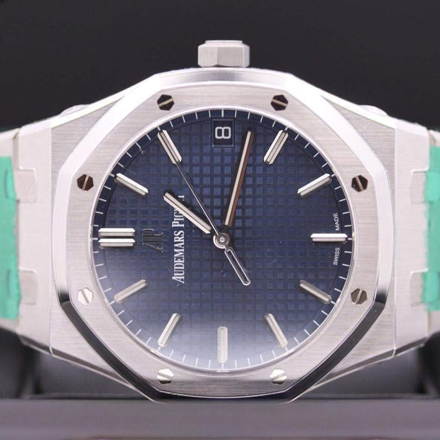 Audemars Piguet Royal Oak 41mm 15500ST Blue Dial-First Class Timepieces