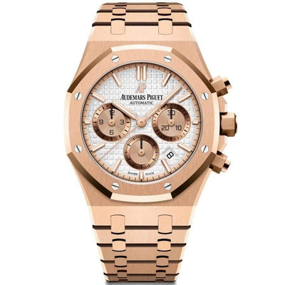 Audemars Piguet Royal Oak Chronograph 38mm 26315OR White Dial-First Class Timepieces