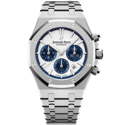 Audemars Piguet Royal Oak Chronograph 38mm 26315ST White Dial-First Class Timepieces