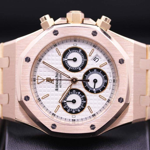 Audemars Piguet Royal Oak Chronograph 39mm 25960OR White Dial Pre-Owned-First Class Timepieces