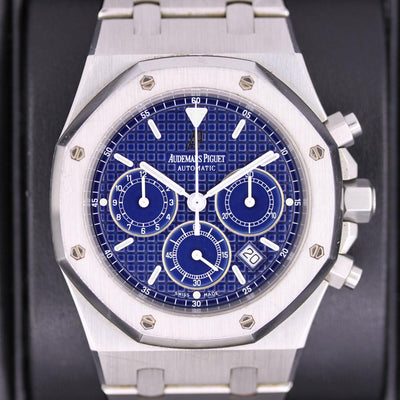 Audemars Piguet Royal Oak Chronograph 39mm 26300ST Blue Dial Pre-Owned-First Class Timepieces