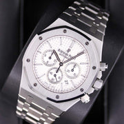 Audemars Piguet Royal Oak Chronograph 41mm 26320ST White Dial Pre-Owned-First Class Timepieces