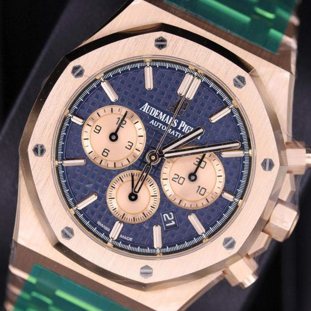Audemars Piguet Royal Oak Chronograph 41mm 26331OR Blue Dial-First Class Timepieces