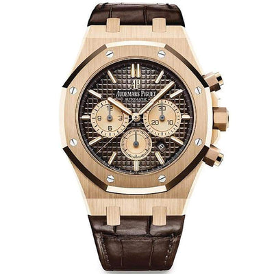 Audemars Piguet Royal Oak Chronograph 41mm 26331OR Brown Dial-First Class Timepieces