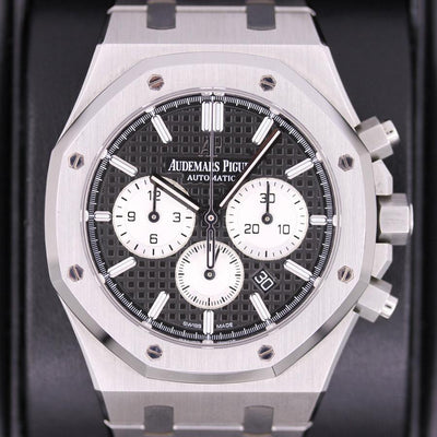 Audemars Piguet Royal Oak Chronograph 41mm 26331ST Black Dial Pre-Owned-First Class Timepieces
