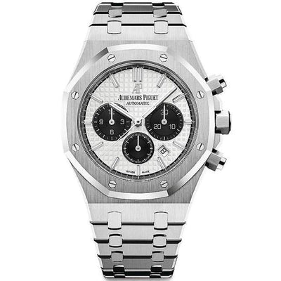 Audemars Piguet Royal Oak Chronograph 41mm 26331ST White Dial-First Class Timepieces