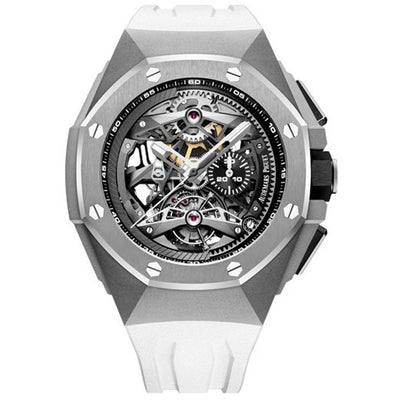 Audemars Piguet Royal Oak Concept Flying Tourbillon Chronograph 44mm 26587TI Overworked Dial-First Class Timepieces