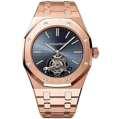 Audemars Piguet Royal Oak Extra-Thin Tourbillon 41mm 26510OR Blue Dial-First Class Timepieces