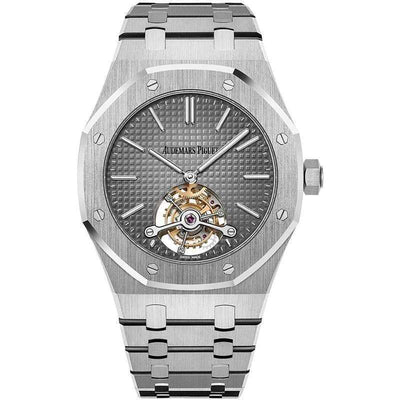 Audemars Piguet Royal Oak Extra-Thin Tourbillon 41mm 26510PT Grey Dial - First Class Timepieces