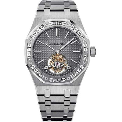 Audemars Piguet Royal Oak Extra-Thin Tourbillon 41mm 26516PT Grey Dial - First Class Timepieces