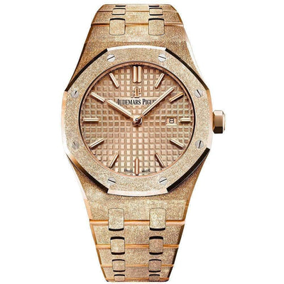 Audemars Piguet Royal Oak Frosted 33mm 67653OR Pink Dial-First Class Timepieces