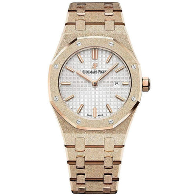 Audemars Piguet Royal Oak Frosted 33mm 67653OR White Dial - First Class Timepieces