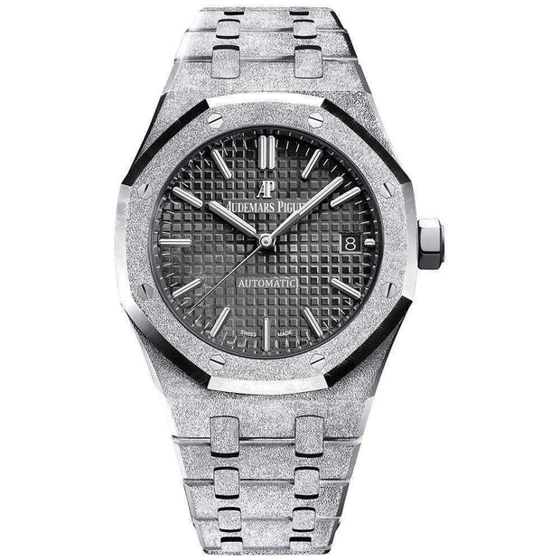 Audemars Piguet Royal Oak Frosted 37mm 15454BC Black Dial-First Class Timepieces