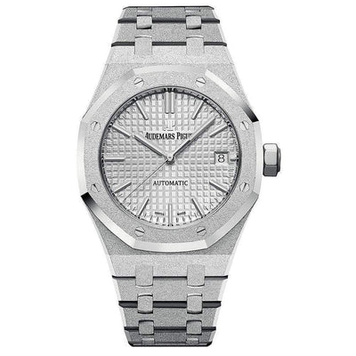 Audemars Piguet Royal Oak Frosted 37mm 15454BC Rhodium Dial-First Class Timepieces