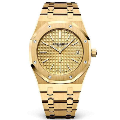 "Audemars Piguet Royal Oak ""Jumbo"" Extra-Thin 39mm 15202BA Gold Dial-First Class Timepieces"