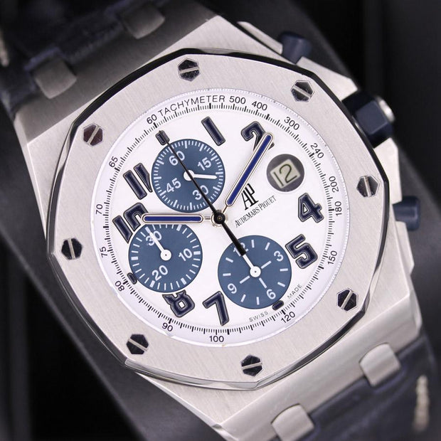 Audemars Piguet Royal Oak Offshore 42mm 26170ST White Dial Pre-Owned-First Class Timepieces