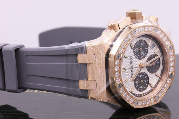 Audemars Piguet Royal Oak Offshore Chronograph 37mm 26231OR Silver Dial-First Class Timepieces