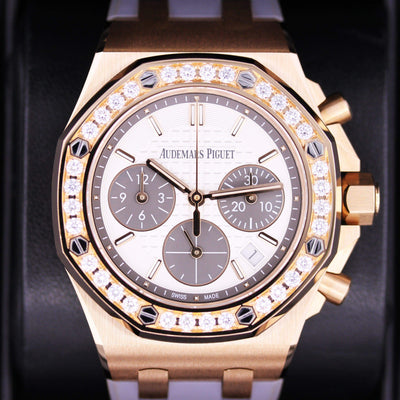 Audemars Piguet Royal Oak Offshore Chronograph 37mm 26231OR White Dial Pre-Owned - First Class Timepieces