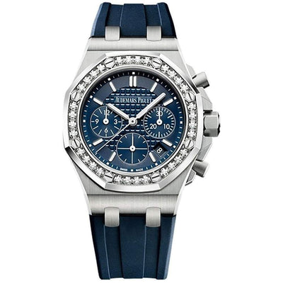 Audemars Piguet Royal Oak Offshore Chronograph 37mm 26231ST Blue Dial - First Class Timepieces