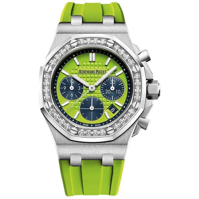 Audemars Piguet Royal Oak Offshore Chronograph 37mm 26231ST Green Dial - First Class Timepieces