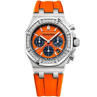 Audemars Piguet Royal Oak Offshore Chronograph 37mm 26231ST Orange Dial - First Class Timepieces