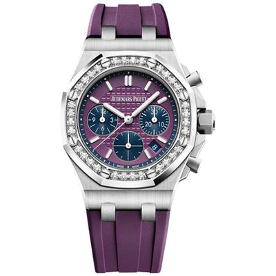 Audemars Piguet Royal Oak Offshore Chronograph 37mm 26231ST Purple Dial - First Class Timepieces
