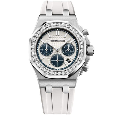 Audemars Piguet Royal Oak Offshore Chronograph 37mm 26231ST White Dial - First Class Timepieces