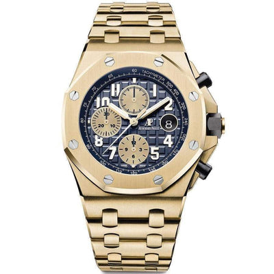 Audemars Piguet Royal Oak Offshore Chronograph 42mm 26470BA Blue Dial-First Class Timepieces