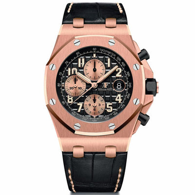 Audemars Piguet Royal Oak Offshore Chronograph 42mm 26470OR Black Dial-First Class Timepieces