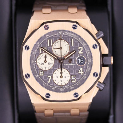 Audemars Piguet Royal Oak Offshore Chronograph 42mm 26470OR Grey Dial Pre-Owned-First Class Timepieces