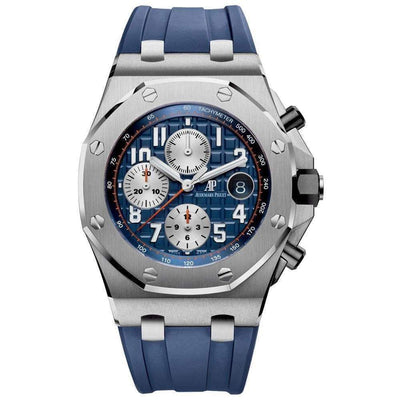 Audemars Piguet Royal Oak Offshore Chronograph 42mm 26470ST Blue Dial - First Class Timepieces