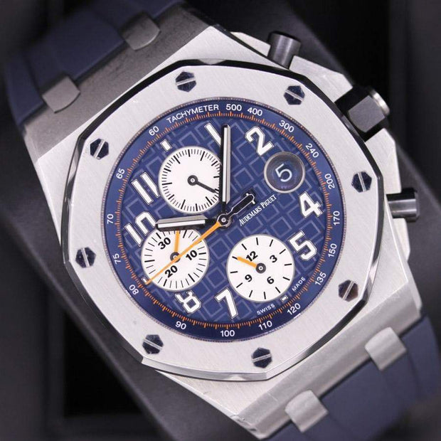 Audemars Piguet Royal Oak Offshore Chronograph 42mm 26470ST Blue Dial Pre-Owned-First Class Timepieces
