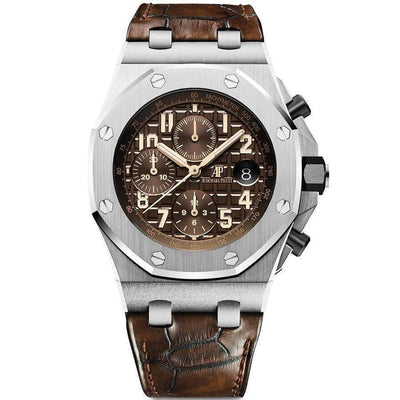 Audemars Piguet Royal Oak Offshore Chronograph 42mm 26470ST Brown Dial - First Class Timepieces