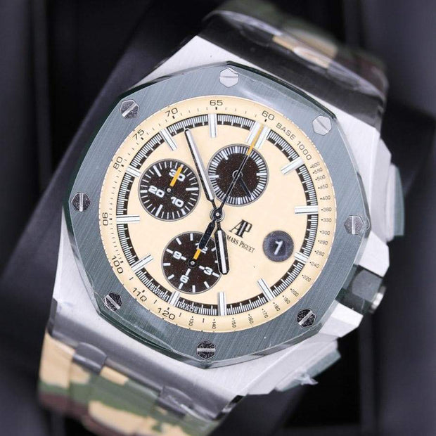 Audemars Piguet Royal Oak Offshore Chronograph 44mm 26400SO Beige Dial - First Class Timepieces