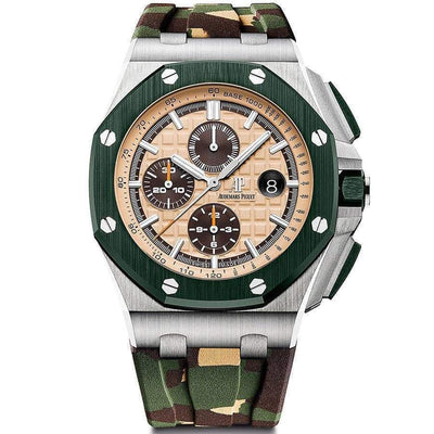 Audemars Piguet Royal Oak Offshore Chronograph 44mm 26400SO Beige Dial-First Class Timepieces
