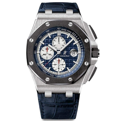 Audemars Piguet Royal Oak Offshore Chronograph 44mm 26401PO Blue Dial - First Class Timepieces