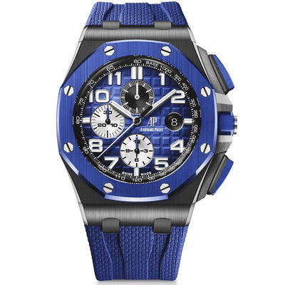 Audemars Piguet Royal Oak Offshore Chronograph 44mm 26405CE Blue Dial-First Class Timepieces
