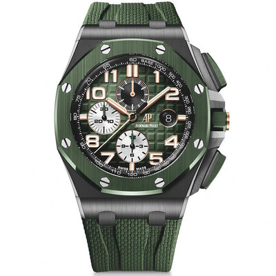 Audemars Piguet Royal Oak Offshore Chronograph 44mm 26405CE Green Dial-First Class Timepieces