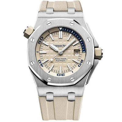 Audemars Piguet Royal Oak Offshore Diver 42mm 15710ST Beige Dial - First Class Timepieces