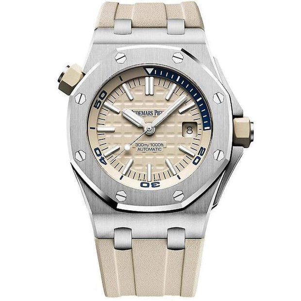 Audemars Piguet Royal Oak Offshore Diver 42mm 15710ST Beige Dial-First Class Timepieces