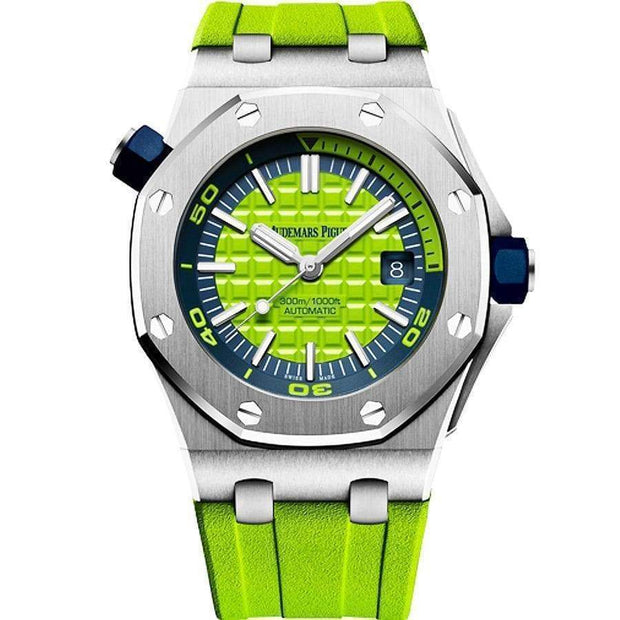 Audemars Piguet Royal Oak Offshore Diver 42mm 15710ST Green Dial-First Class Timepieces