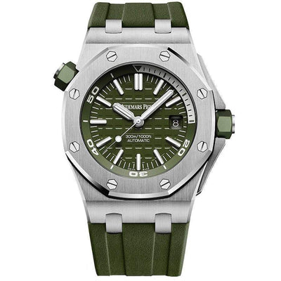 Audemars Piguet Royal Oak Offshore Diver 42mm 15710ST Khaki Green Dial-First Class Timepieces
