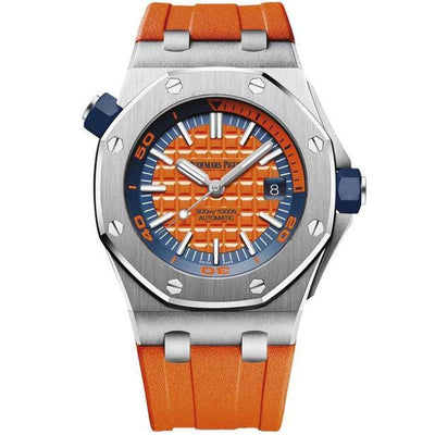 Audemars Piguet Royal Oak Offshore Diver 42mm 15710ST Orange Dial - First Class Timepieces