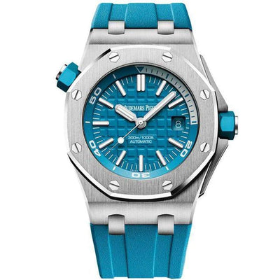 Audemars Piguet Royal Oak Offshore Diver 42mm 15710ST Turquoise Blue Dial - First Class Timepieces