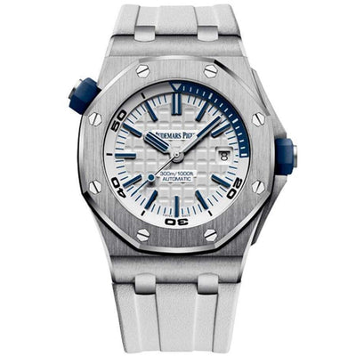 Audemars Piguet Royal Oak Offshore Diver 42mm 15710ST White Dial-First Class Timepieces