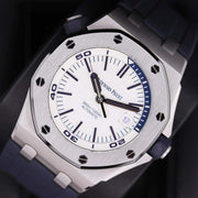 Audemars Piguet Royal Oak Offshore Diver 42mm 15710ST White Dial Pre-Owned-First Class Timepieces