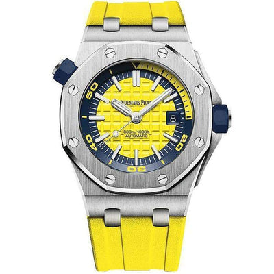 Audemars Piguet Royal Oak Offshore Diver 42mm 15710ST Yellow Dial - First Class Timepieces