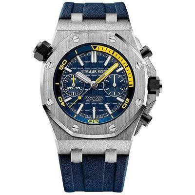 Audemars Piguet Royal Oak Offshore Diver Chronograph 42mm 26703ST Blue Dial - First Class Timepieces